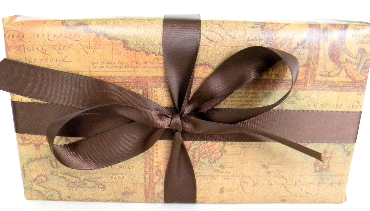 Old world map wrapping paper 10 ft x 2 ft roll masculine gift 770 gumiabroncs Gallery