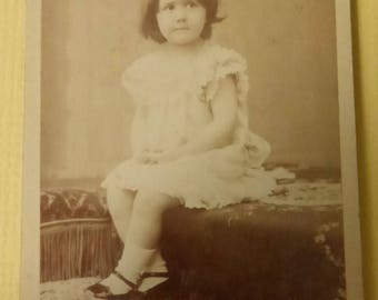 Antique Cabinet Card French Child  CC1551