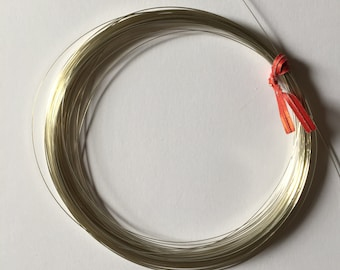 Sterling Sliver Half Round Wire. 24 gauge Soft Wire. 5 feet length. bulk packages.