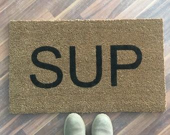 Sup painted custom doormat