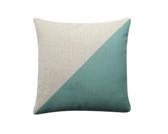"18""x18"" Cushion, Color Block Triangle Pillow Cover, geometric Pillow, Throw Pillow, Decorative Cushion, Minimalist 217"