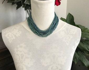 1970's Multi-strand Choker Necklace