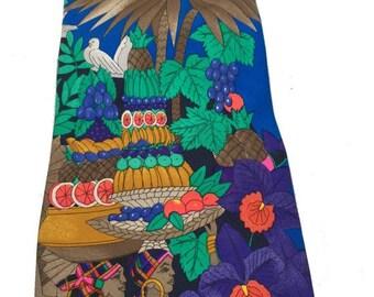 1970s LEONARD Necktie Paris colorful NUMBERED  painting NECKTIE // leonard cravatte
