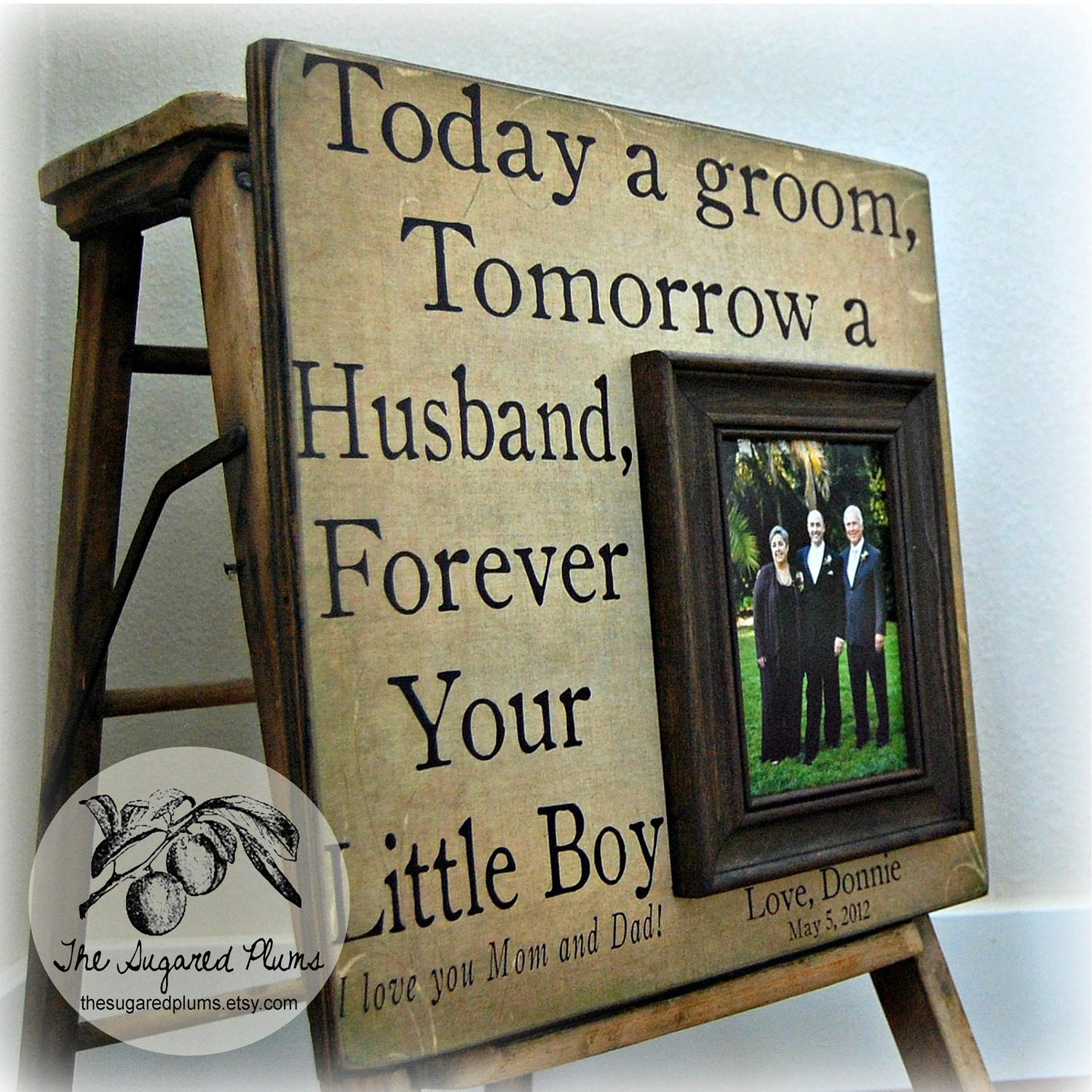 Unique Parent Wedding Gift Ideas: Parents Wedding Gift Personalized Picture Frame 16x16 TODAY A
