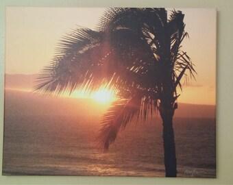 Hawaiian Sunset Photo Canvas
