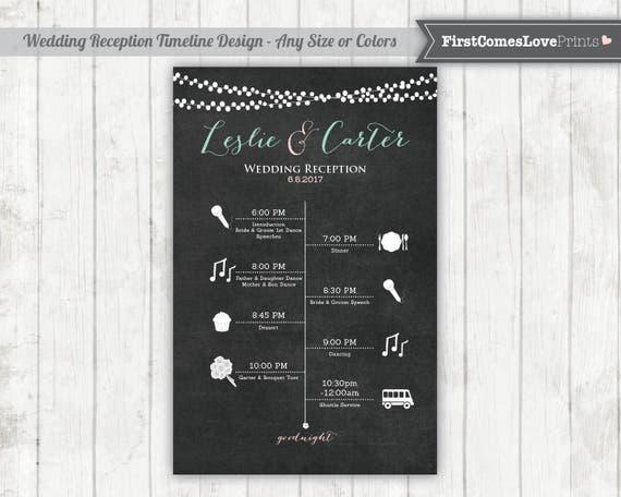 wedding reception schedule