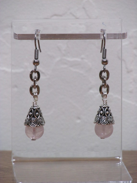 quartz s summer shop kohls drop on halo sales earrings womens smoky rose square women over gold brown silver hot