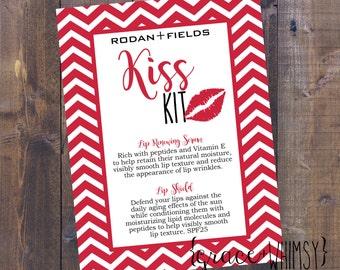 Rodan + Fields kiss kit tag {Valentine's Day} lip renewing serum and lip shield