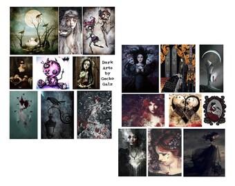 Dark Arts Digital collage set