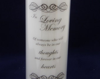 Personalised Memorial Candle, Memorial Gift, Remembrance Candles, Sympathy Candle,