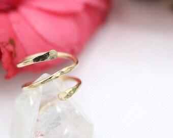 14k Yellow GoldFill Wrap Around Ring