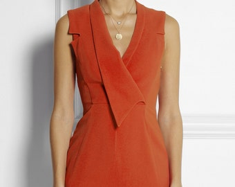 Folded collar  new pencil dress or swing made to measure ALL SIZES classic