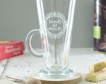 Hot Chocolate Personalised Engraved Glass