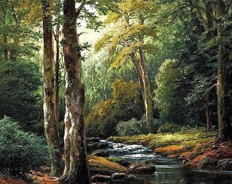 The Forest Stream - Counted cross stitch pattern in PDF format