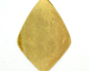 4 Solid Brass Large Rounded Diamond Teardrop Blanks SKU-BB-26