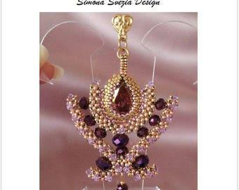 """TUTORIAL """"EGYPTIAN FANTASY"""" earrings and pendant / orecchini e ciondolo"""