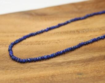 Lapis Necklace, Lapis Jewelry, Beaded Necklace, Minimalist, Layering Necklace, Gemstone Jewelry