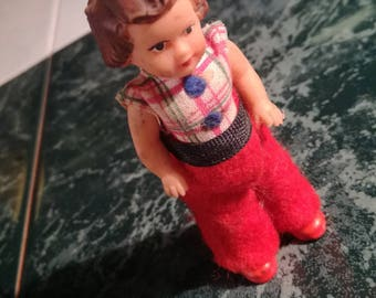 Vintage, Ari, doll, original clothing, unique, doll house, Dollhouse, Dolly, rubber, red shoes, 1950/60