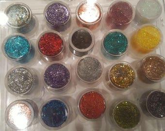Mega Value Pack Glitz, Multi Glam Glittery Eye Shadows, All Natural with Aloe