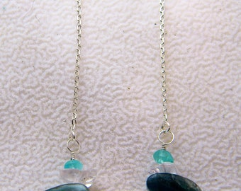 Krazy Kyanite and apatite stones induce colors of the Caribbean.