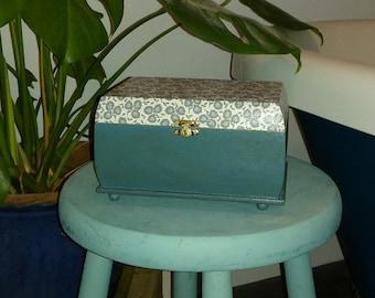 Hand decoupaged Jewellery box
