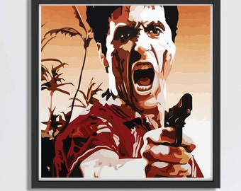 LARGE Scarface Poster / Scarface Print / Scarface Movie / Scar Face / Tony Montana / Al Pacino / Scar Face Movie / Scarface Movie Poster
