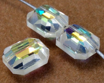 8mm x 10mm Crystal AB Rectangle Bead #367