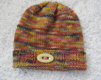 Child's Wool Handknit Hat/Cap, For Baby or Child.