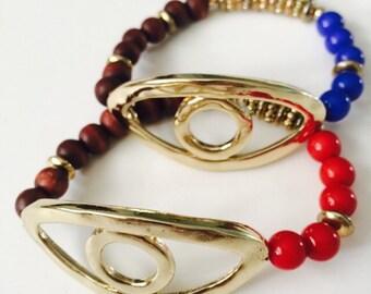 Set of Two Evil Eye Bracelets