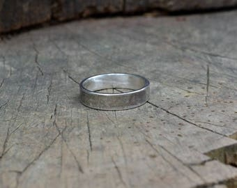 Sterling chunky men's ring band, classic sterling ring band, simple sterling silver men ring band , simple sterling silver ring band