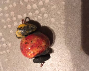 petitpendentif 3 raku ceramic beads