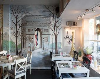 Paris France / Paris Cafe 8 x 10 / 8x10 GLOSSY Photo Picture