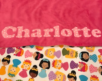 Princess - Personalized Name Blanket - Baby shower - Baby gift - newborn