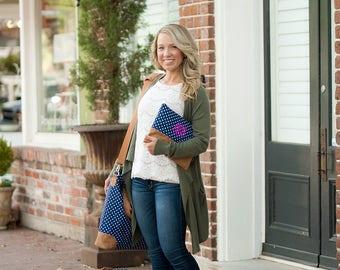 Monogrammed Polka Dot Weekender, Shoulder or Cosmetic Bag - Monogram Gift