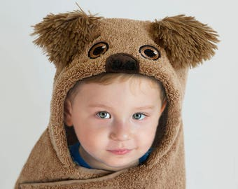 Hooded Towel / Dog / Puppy / Shih Tzu / Hooded Bath Towel / Personalized / Baby Gift / Baby / Toddler