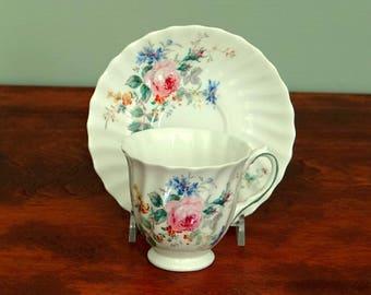 Royal Doulton Arcadia Demitasse Cup and Saucer Pink Roses China