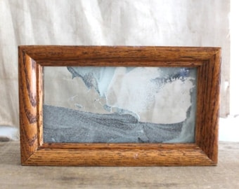 Small William Taber Exotic Sands, Moving Sand Framed Art Sculpture