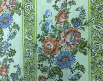 "Vintage Waverly Schumacher Floral Fabric Material titled ""Wilson Park"""