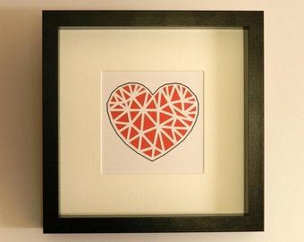 Layered Cut Paper Heart