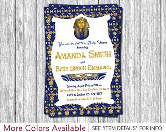 Egyptian Baby Shower Invitation - Egyptian Theme Invitation