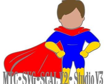 SVG Cut File Super Hero 01 Cut Files MTC Silhouette Cricut  SCAL cutting File