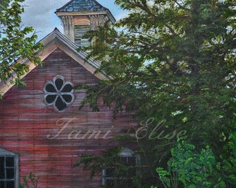 Title: Time Gone By In Cambridge, Fine Art Oil Painting, One-of-a-Kind Wall Art
