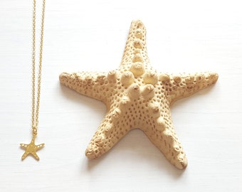 Petit Starfish Necklace, Black Friday, Sale, Golden Starfish, Silver Starfish Necklace, Dainty Necklace, SeaLife Jewelry, Charm Necklace