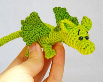 amigurumi dragon crochet stuffed animal dragon Knitted dragon kawaii crochet art doll Jungle animal little dragon toy baby shower gift