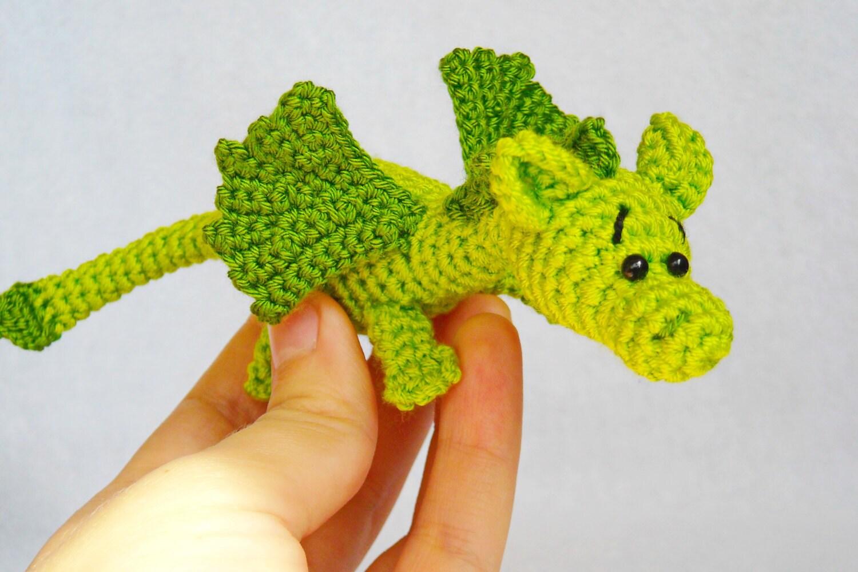 Crochet Amigurumi Dragon : Amigurumi dragon crochet stuffed animal dragon knitted dragon