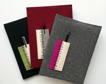 Felt Notebook with Pocket