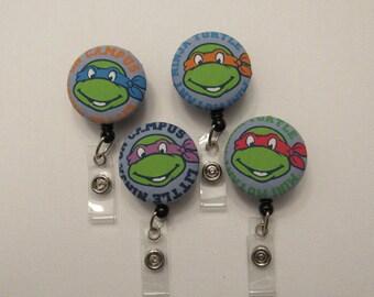 Teenage Mutant Ninja Turtle badge reels