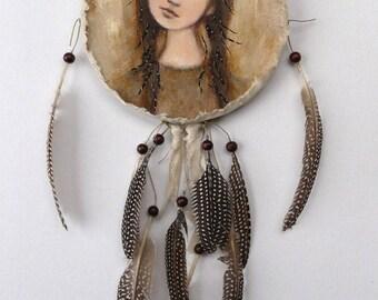 Native American, inspired dream catcher or native American mandala