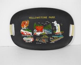 Vtg Yellowstone Park Souvenir Tray  (1531)