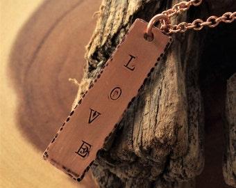 Copper Love Pendant Necklace
